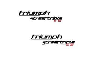 2 Stickers Triumph Street Triple 675