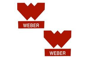 2 Stickers WEBER