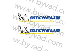 2 Stickers michelin fond blanc