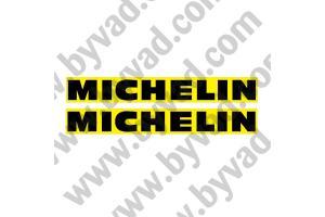 2 Stickers michelin fond jaune
