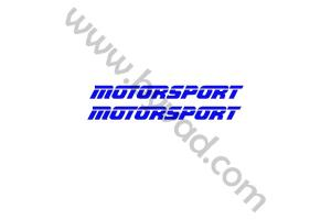 kit 2 stickers MOTORSPORT 50 cm
