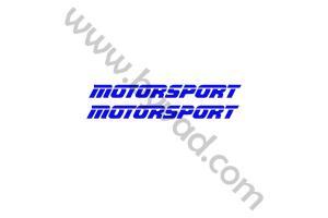kit 2 stickers MOTORSPORT 100 cm