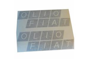 2 Stickers Olio Fiat