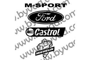 Pack stickers Sponsors Ford