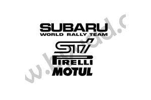 Pack stickers Sponsors Subaru