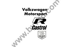 Pack stickers Sponsors Volkswagen Motorsport