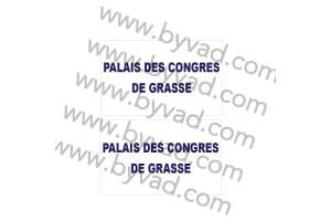 2 Stickers Palais des congrés de GRASSE