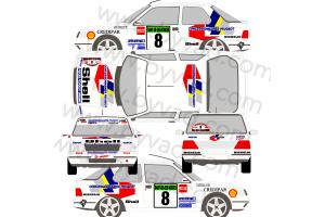 Kit déco Peugeot 309 GCAP Alsace Vosges 1992