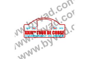 1 Plaque de Rallye Adhésive Tour de Corse 1979