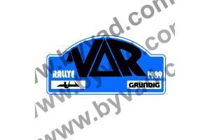 1 Plaque de Rallye Adhésive Rallye du Var 1989