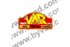 1 Plaque de Rallye Adhésive Rallye du Var 1991