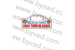 1 Plaque de Rallye Adhésive Tour de Corse 1988