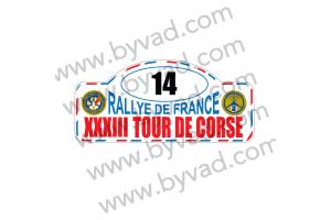1 Plaque de Rallye Adhésive Tour de Corse 1989