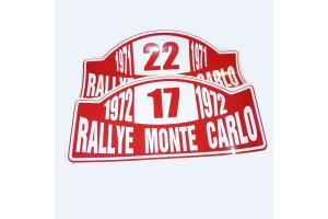 1 plaque rallye Monte Carlo