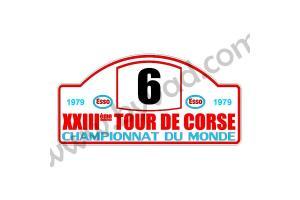 1 plaque rallye Tour de Corse