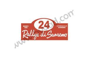 1 plaque rallye San Remo