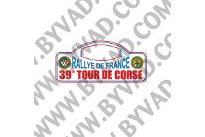 1 Plaque de Rallye Adhésive Tour de Corse 1995