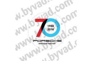 Sticker porsche 70 ANS