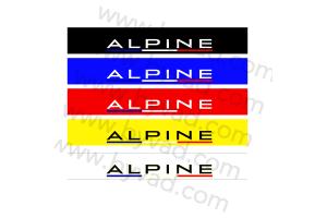 """Bandeau pare soleil Alpine """"france"""""""