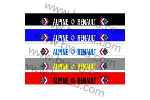 Bandeau pare soleil Alpine Renault compétition