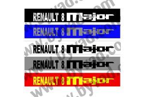 Bandeau pare soleil Renault 8 Major