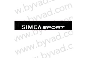 Bandeau pare soleil SIMCA Sport