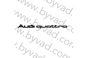 Lettrage Audi Quattro