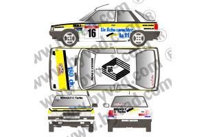 Kit déco R11 Turbo Alain Oreille Tour de Corse 1986