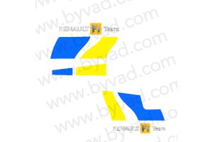 Sticker avant et arrière style mégane R25
