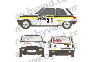 Kit déco R5 Alpine Monte Carlo 1984