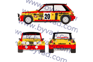 Kit déco R5 Turbo Monte Carlo 1981 Bruno Saby CALBERSON