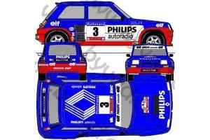 Kit déco R5 Turbo Tour de Corse 1985
