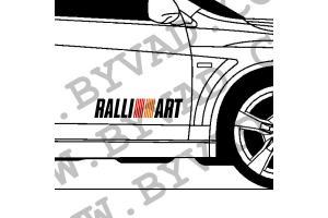 2 stickers Ralliart Mitsubishi