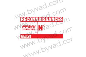 150 autocollants Reconnaissance organisation rallye