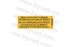 Sticker Renault DANGER VENTILATEUR
