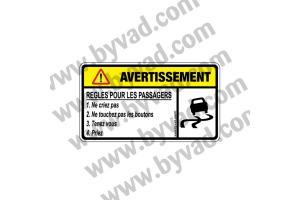 Sticker Règles pour les passagers