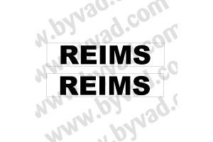 Autocollant Reims x 2