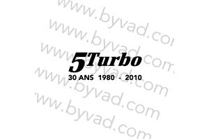 Sticker R5 Turbo 30 ans