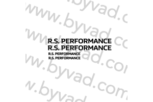 Sticker Renault RS Performance