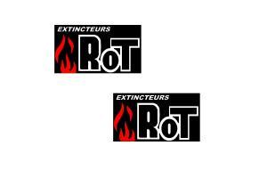2 Autocollants ROT Extincteurs
