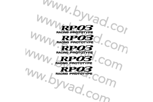 Kit 5 stickers de jante ENKEI RP03