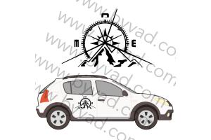 2 autocollants Logo DACIA SANDERO AVENTURE