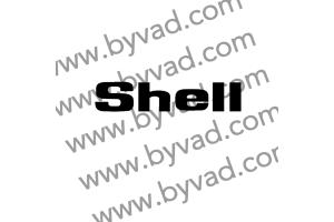 1 autocollant Shell capot 205