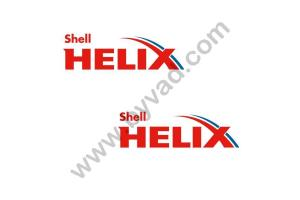 2 stickers SHELL HELIX .