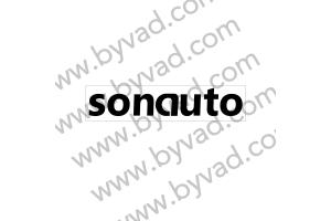 1 sticker SONAUTO fond Blanc