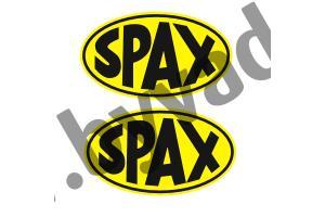 2 stickers SPAX avec fond