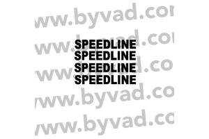 Kit 5 stickers de jante Speedline