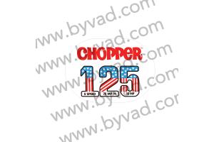 Autocollant 125 FANTIC CHOPPER