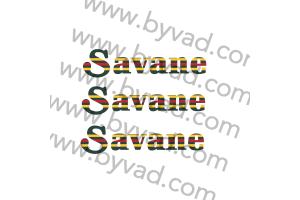 Trois autocollants 4L SAVANE