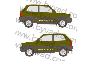 2 Stickers 4x4 PANDA SISLEY